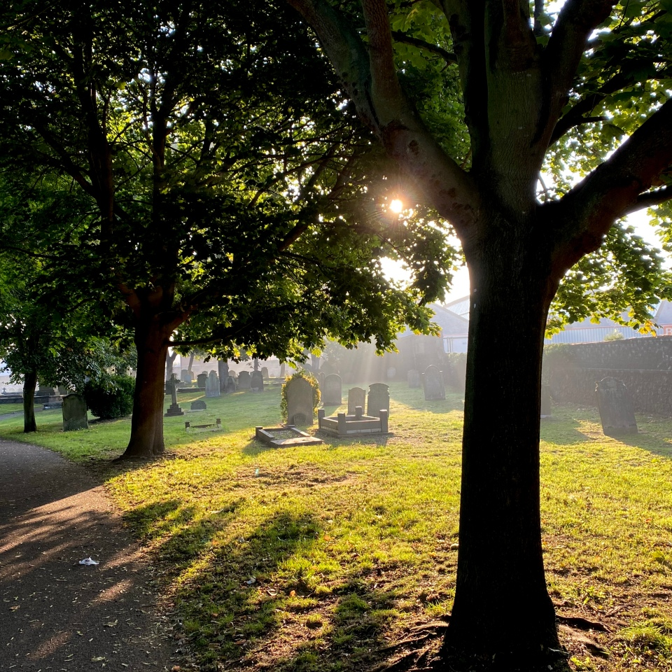 Postcards From Great Yarmouth | Cemetery Sunrise 2020