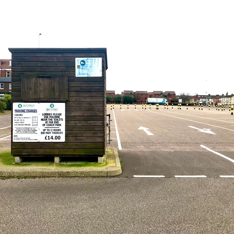 Postcards From Great Yarmouth | Car Park Lorries 2020