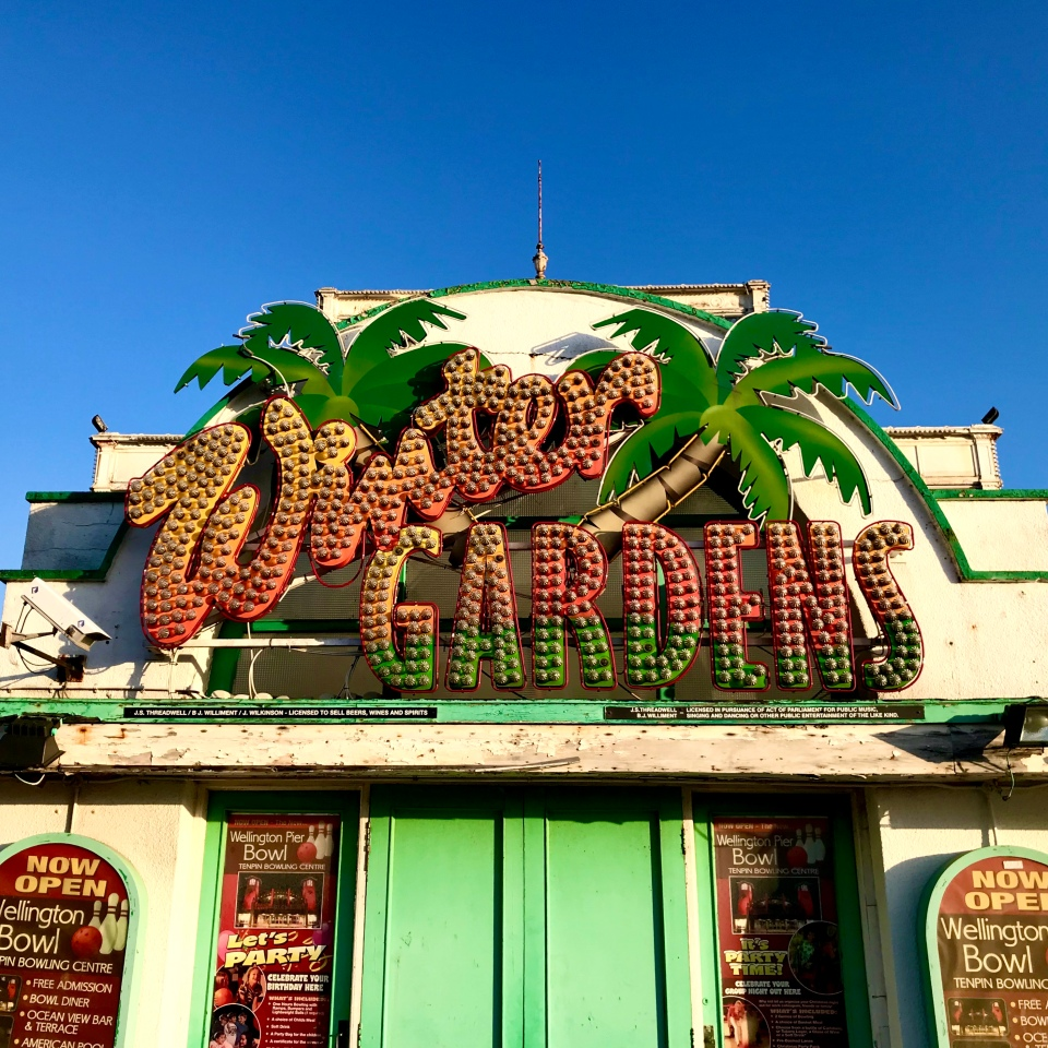 Postcards From Great Yarmouth | Winter Garden Sign 2020